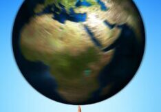 spinning earth image